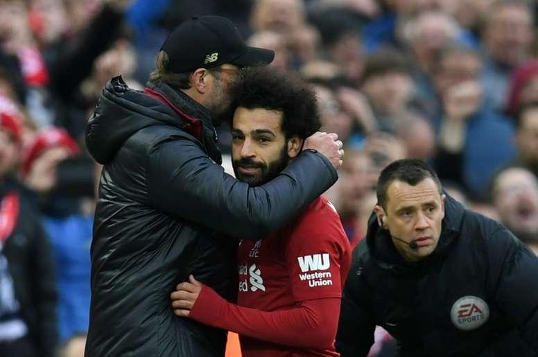 'AS': una discusión Klopp-Salah abre la puerta al Madrid. AFP