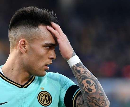 Le Real Madrid veut chiper Lautaro au Barça. AFP