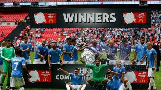 Encore un titre pour Manchester City, qui remporte le Community Shield. AFP
