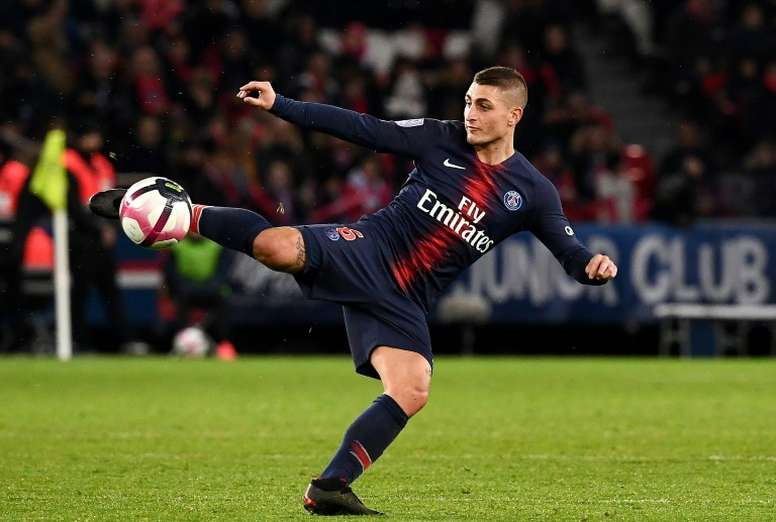 Marco Verratti pode ser desfalque do PSG na Champions League. AFP