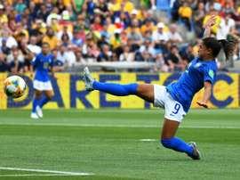 Debinha, la nouvelle star du Brésil. AFP