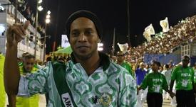 Ronaldinho passes his legacy onto his son. AFP