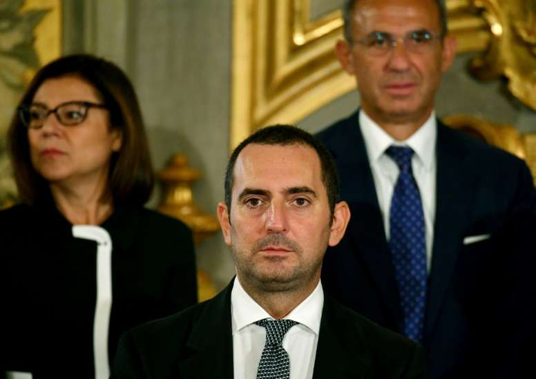 La advertencia del ministro de Deportes a los equipos italianos. AFP
