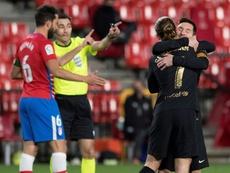 Messi et Griezmann voient double, le Barça recolle. AFP