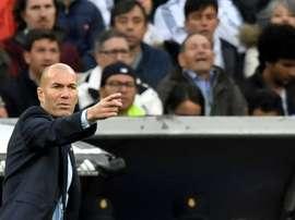 Zidane veut des supporters demain soir. AFP