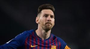 Lionel Messi auteur d'un triplé lors de la victoire à Séville. AFP