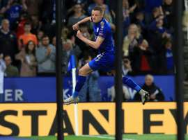 Vardy missed the last three games after a red card. AFP