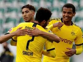 Hakimi's impressive performances have caught Madrid's eye. AFP