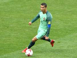 L'attaquant du Portugal Cristiano Ronaldo face à la Russie lors de la Coupe des Confédérations. AFP