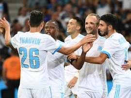 A equipe de Rudi Garcia bateu o Domzale por 3-0. AFP