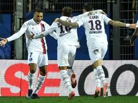 Les compos probables du match de Ligue 1 entre le PSG et Montpellier. AFP