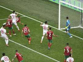 Iran's goal came late on, during added time. AFP