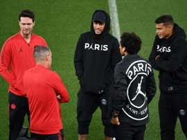 Neymar and Marquinhos will be allowed to join in the PSG celebrations. AFP