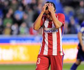 Gaitán cuts a frustrated figure at the Wanda Metropolitano these days. AFP