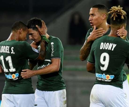 Empate a dos en el Stade Geoffroy-Guichard. AFP