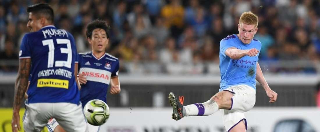 Kevin De Bruyne buteur lors de la victoire sur les Japonais du Yokohama F. Marinos en amical. AFp