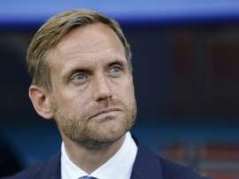 Le sélectionneur de la Norvège Martin Sjogren. AFP