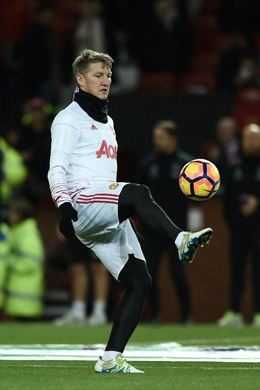 Bastian Schweinsteiger playing with the ball. AFP