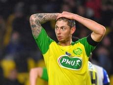 Emiliano Sala à Nantes lors de la réception de l'AJ Auxerre. AFP