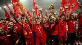 O Shanghai Sipg é o novo Campeão Chinês. AFP