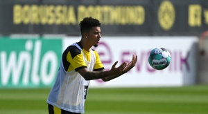Sancho spoke about his future as a role model for Dortmund's youngsters. AFP