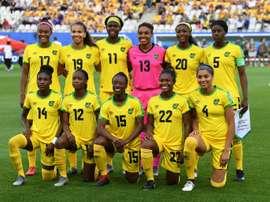 Les footballeuses jamaïcaines avant leur match contre l'Australie à Grenoble. AFP