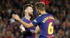 El Valencia le ofrece cuatro años a Denis Suárez. AFP