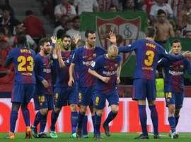 Le barça va joué un match amical en Afrique du Sud. AFP