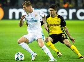 Madrid y Borussia juegan la última jornada de la fase de grupos en el Bernabéu. AFP