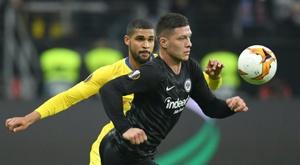 Jovic en Europa garantiza un gol cada 63 minutos. AFP