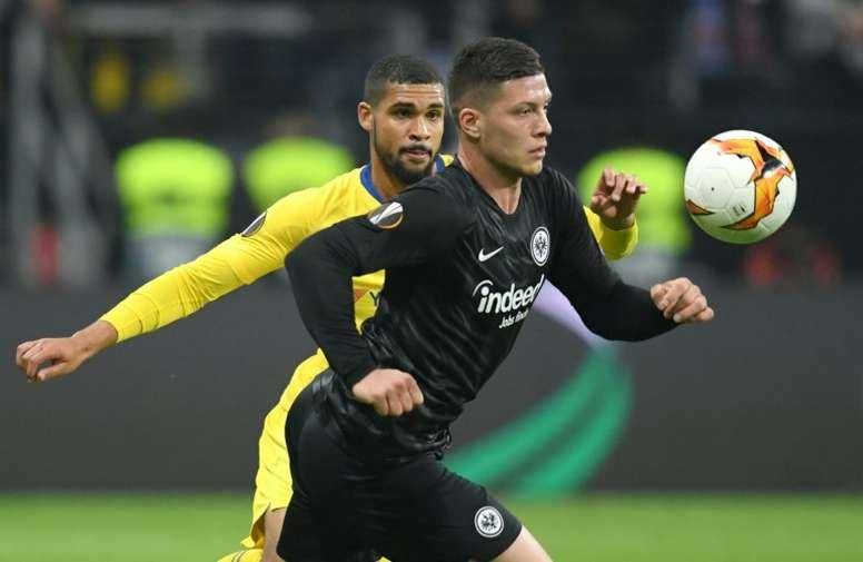 El Eintracht rechazó 85 millones por Jovic. AFP