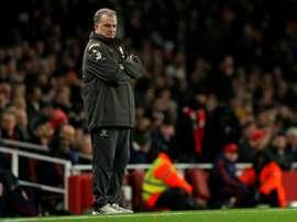 Leeds et Bielsa au stress test de fin de saison. AFP