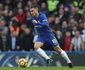 Le milieu de terrain de Chelsea, le Belge Eden Hazard lors du match face à Newcastle. AFP