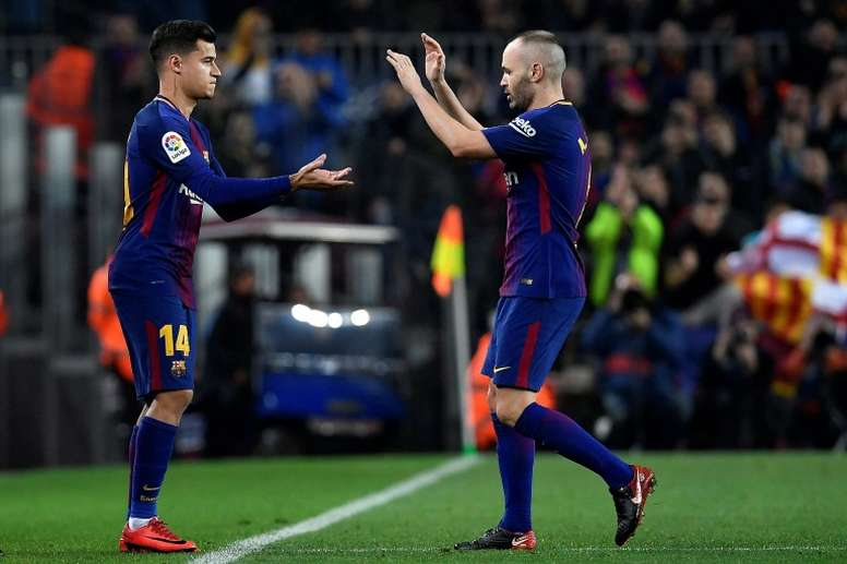 Coutinho was entrusted with replacing the legendary Iniesta. AFP