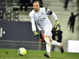Le gardien de Saint-Etienne Stéphane Ruffier lors du match face à Toulouse. AFP