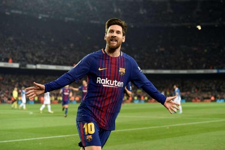 Xerez, Murcia y Cádiz, los tres equipos que resisten a Messi. AFP