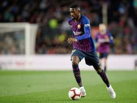 Dembélé se machuca e ficará cinco semanas fora. AFP
