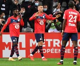 Lille provisoirement leader après sa victoire contre Nantes. afp