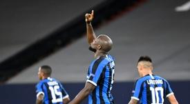 Lukaku destacó el rendimiento de Barella. AFP
