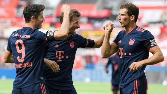 Leon Goretzka wasn't sorry to see Messi like that. AFP
