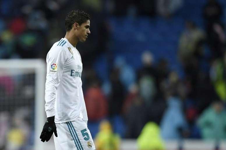 Raphaël Varane, battu avec le Real Madrid, par Villarreal, à Bernabeu, le 13 janvier 2018. AFP