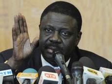 La disparition de Pape Diouf incarne le covid-19 au Sénégal. AFP