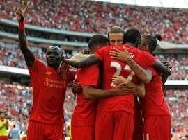 Les joueurs de Liverpool, face au Barça, le 6 août 2016, à Londres