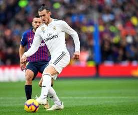 Gareth Bale en Championnat d'Espagne contre le Barça. AFP