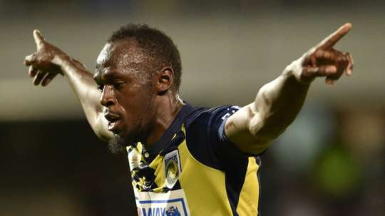 Olympic sprinter Usain Bolt is trying to launch a career as a footballer. AFP