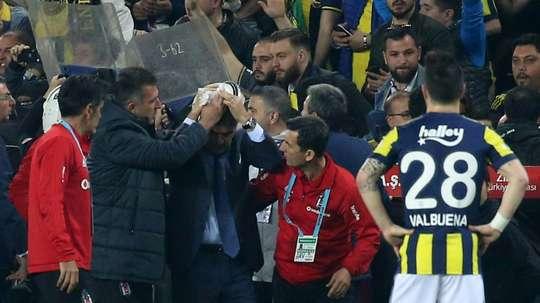 Durísima sanción par el Besiktas. AFP