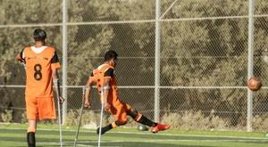 L'équipe palestinienne de football rassemblant des personnes amputées. AFP
