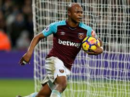 Ayew scored 9 goals in 43 games for the Hammers. AFP