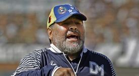 Gimnasia cayó en casa en el regreso de Maradona. AFP
