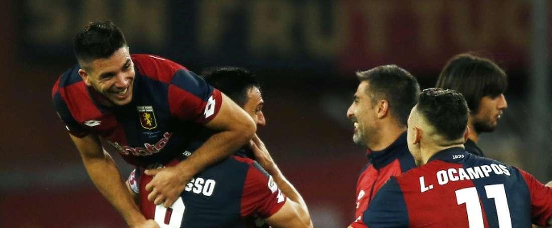 El Genoa no pudo aguantar el resultado ante el Palermo. AFP